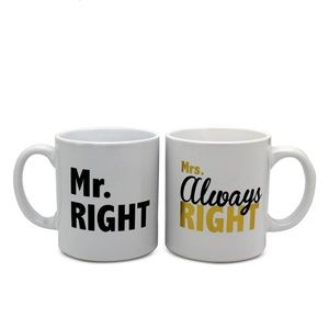 Mr. Right & Mrs. Always right 2pc gift set